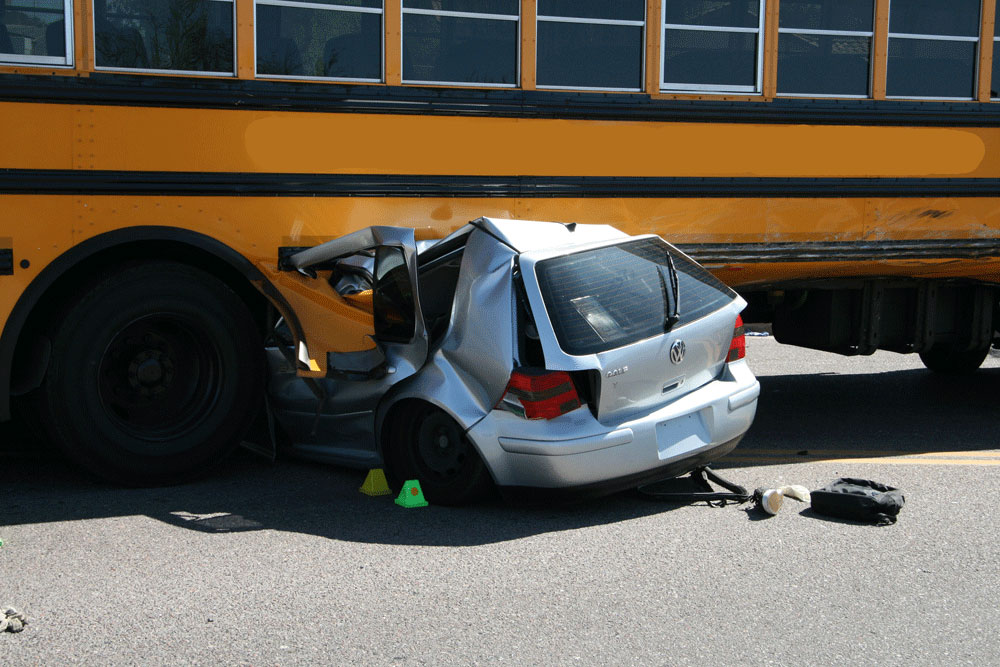 Vehicle-to-Vehicle Collisions school bus sm