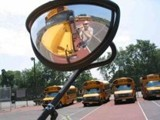 street-side crossover, bus mirror