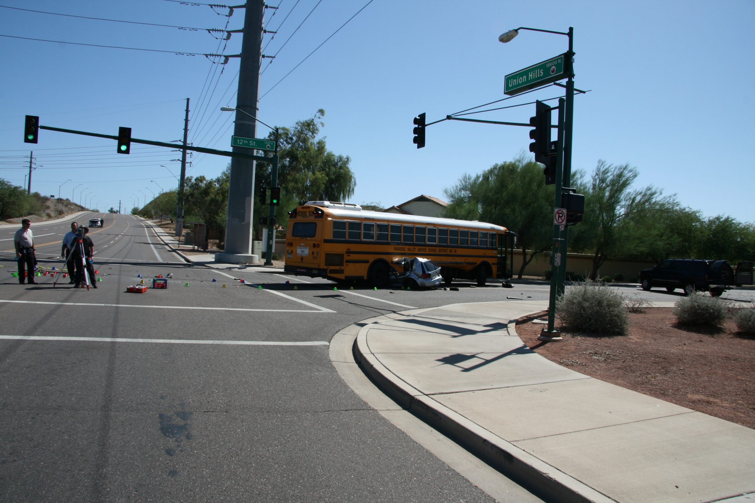 long wheelbase school bus accident