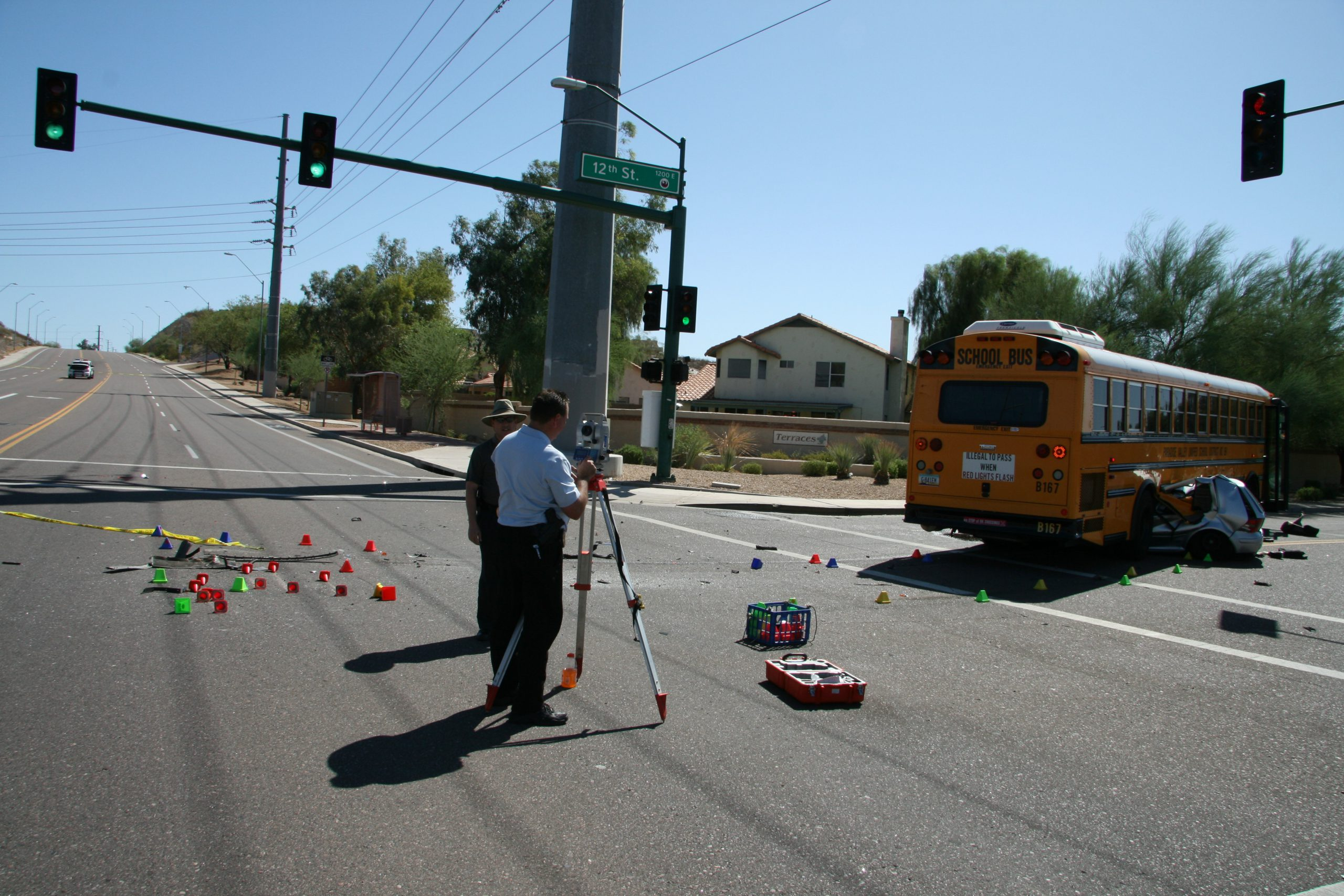 long wheelbase school bus turning accident 3